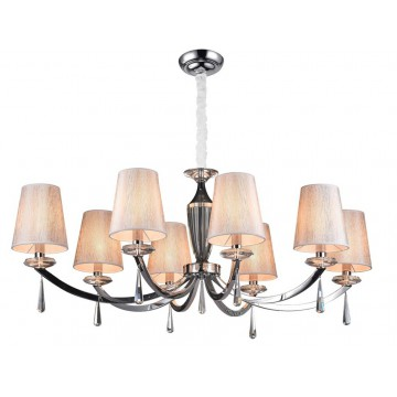 Основание подвесной люстры Newport 3240 3248/S без абажуров (М0056875), 8xE14x60W, прозрачный, хром, металл, стекло, хрусталь