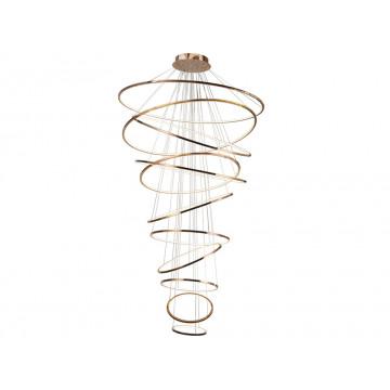 Подвесной светодиодный светильник Newport 15000 15211/S Rose gold (М0055957), LED 247W, золото, металл, металл с пластиком, пластик