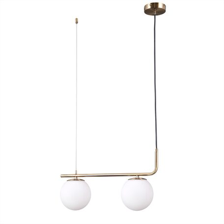 Подвесной светильник Citilux Бремен CL112123, 2xE27x20W, бронза, белый, металл, стекло
