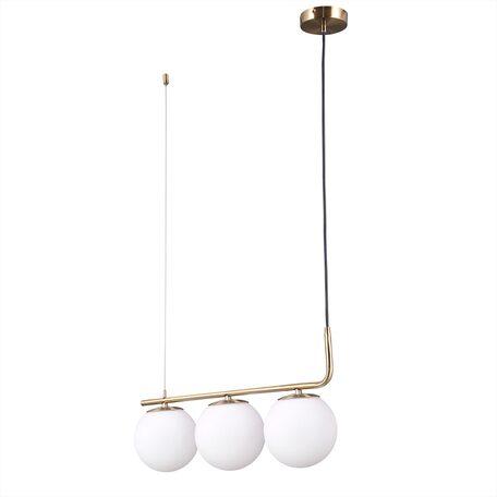 Подвесной светильник Citilux Бремен CL112133, 3xE27x20W, бронза, белый, металл, стекло