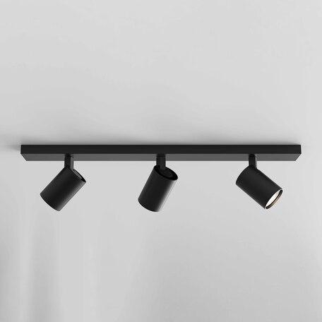 Потолочный светильник с регулировкой направления света Astro Ascoli 1286083, 3xGU10x50W, черный, металл