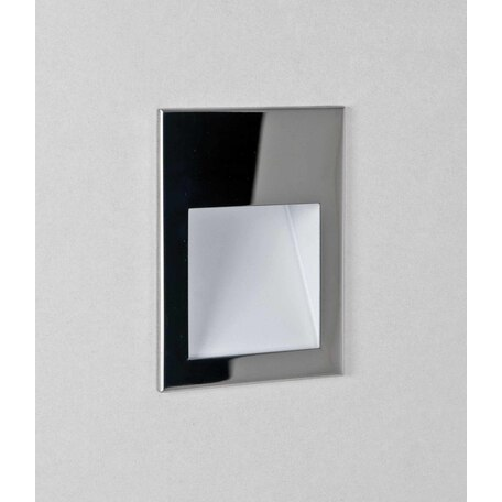 Встраиваемый настенный светодиодный светильник Astro Borgo 1212046, IP65, LED 4,1W 3000K 123,6lm CRI80, хром, металл