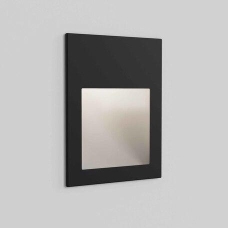 Встраиваемый настенный светодиодный светильник Astro Borgo 1212051, IP65, LED 4,1W 3000K 123,6lm CRI80, черный, металл