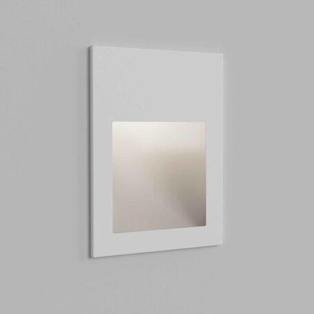 Встраиваемый настенный светодиодный светильник Astro Borgo 1212052, IP65, LED 4,1W 3000K 123,6lm CRI80, белый, металл