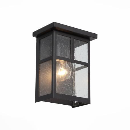 Настенный светильник ST Luce Glazgo SL079.401.01, IP54, 1xE27x60W, коричневый, прозрачный, металл, стекло