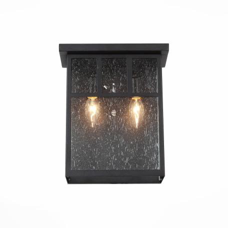 Настенный светильник ST Luce Glazgo SL079.401.02, IP54, 2xE14x60W, коричневый, прозрачный, стекло