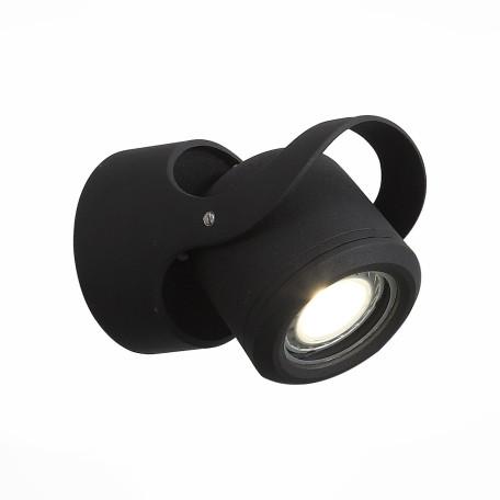Настенный светильник с регулировкой направления света ST Luce Round SL093.401.01, IP54, 1xG5.3x7W, черный, металл