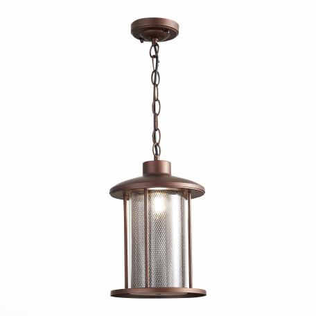 Подвесной светильник ST Luce Lastero SL080.403.01, IP54, 1xE27x60W, коричневый, прозрачный, металл, ковка, металл со стеклом