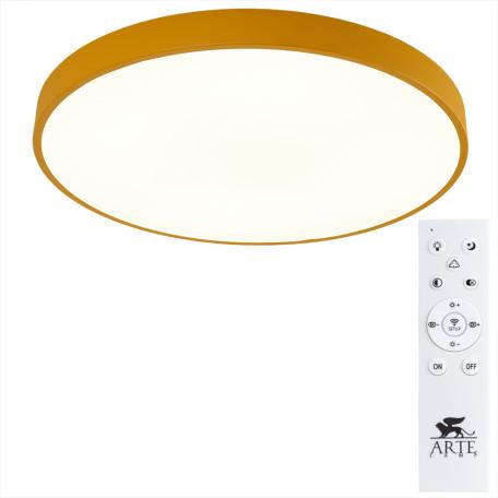 Потолочный светодиодный светильник с пультом ДУ Arte Lamp City Arena A2661PL-1YL, 2700-4500K, белый, желтый, металл, пластик