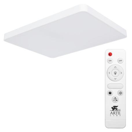 Потолочный светодиодный светильник с пультом ДУ Arte Lamp City Scena A2662PL-1WH, LED 140W, 2700-4500K, белый, металл, пластик