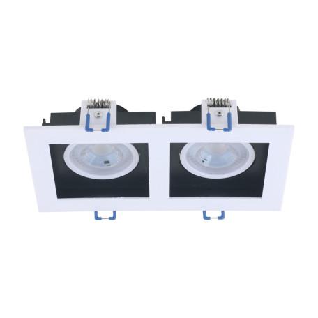 Встраиваемый светодиодный светильник Arte Lamp Grado A2710PL-2WH, LED 10W 4200K 600lm CRI≥70, белый, черно-белый, пластик