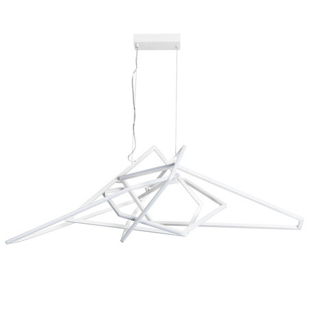 Подвесная светодиодная люстра Divinare Picasso 1611/03 SP-1, LED 140W 4000K 2600lm CRI≥80, белый, металл, металл с пластиком