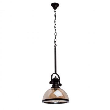 Подвесной светильник с регулировкой направления света MW-Light Нойвид 682012001, 1xE27x40W, черный, коньячный, металл, стекло