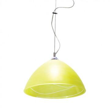 Подвесной светильник Arte Lamp Cucina A4729SP-1CC, 1xE27x60W, хром, желтый, металл, стекло
