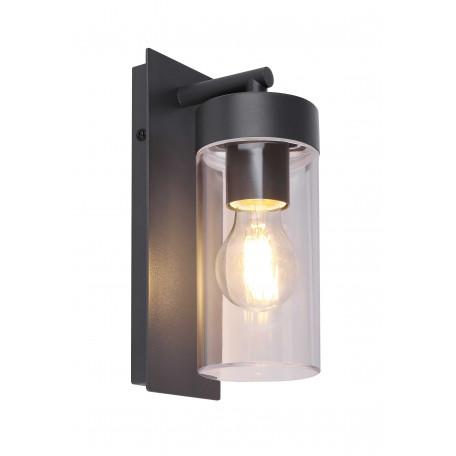 Настенный светильник Globo Vessa 31804, IP44, 1xE27x15W, темно-серый, прозрачный, металл, пластик
