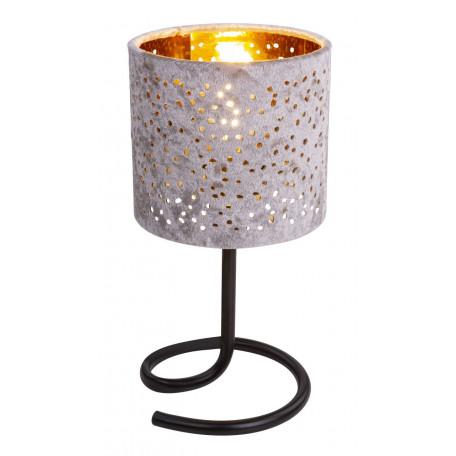 Настольная лампа Globo Norro 24001BG, 1xE14x40W, черный, бежевый, золото, металл, текстиль