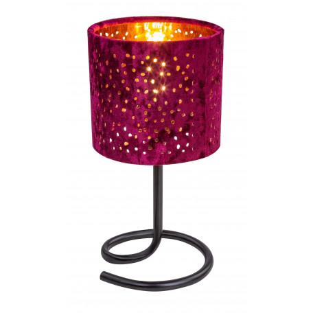 Настольная лампа Globo Norro 24001RG, 1xE14x40W, черный, красный с золотом, металл, текстиль