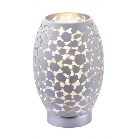 Настольная лампа Globo Hanny 24003W, 1xE27x40W, серебро, белый, металл