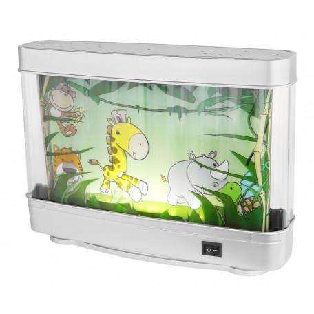 Настольная светодиодная лампа-ночник Globo Abai 28962, LED 3W, серебро, разноцветный, пластик