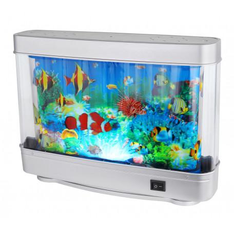 Настольная светодиодная лампа-ночник Globo Abai 28963, LED 3W, серебро, разноцветный, пластик