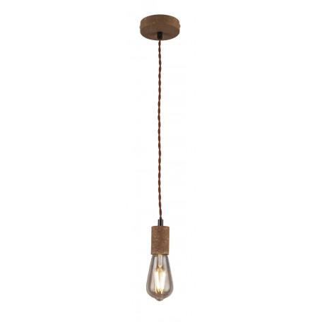 Подвесной светильник Globo Jakob 15327, 1xE27x40W, коричневый, металл