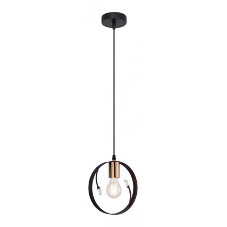 Подвесной светильник Globo Vigo 15346-1, 1xE27x60W, черный с бронзой, черный, металл