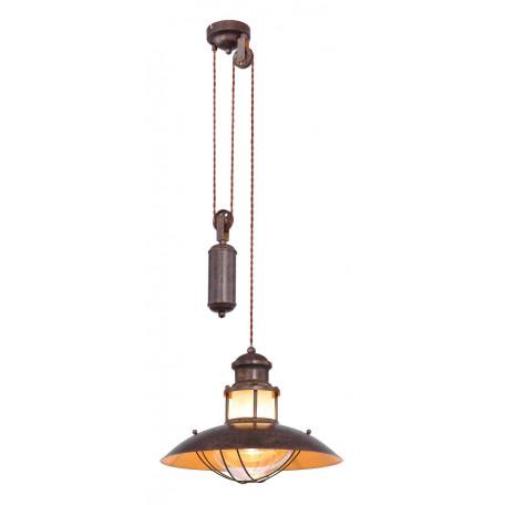 Подвесной светильник Globo Badalona 15355Z, 1xE27x60W, коричневый, металл, стекло