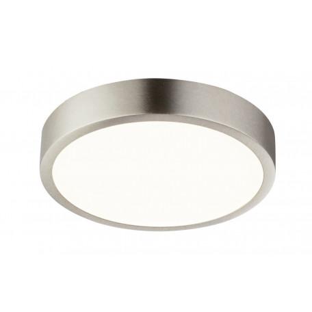 Потолочный светодиодный светильник Globo Vitos 12366-15, IP44, LED 15W, никель, металл, металл с пластиком