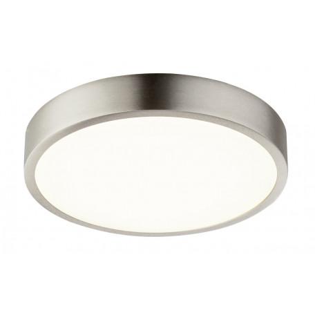 Потолочный светодиодный светильник Globo Vitos 12366-22, IP44, LED 22W, никель, металл, металл с пластиком