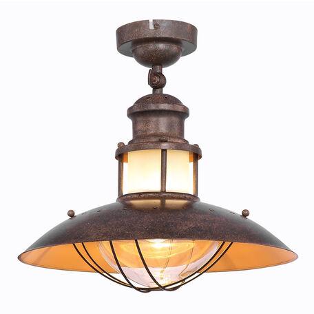 Потолочный светильник Globo Badalona 15355D, 1xE27x60W, коричневый, металл, стекло