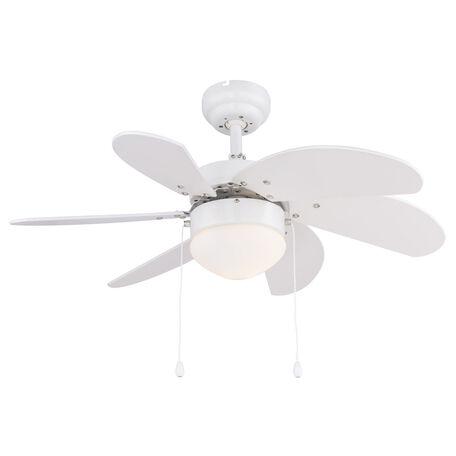 Потолочный светодиодный светильник-вентилятор Globo Solar D 03302, IP44, LED 0,04W, белый, металл, пластик