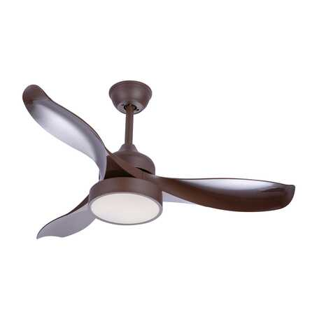 Потолочный светодиодный светильник-вентилятор Globo Ramona 03610, LED 18W, коричневый, белый, металл, пластик