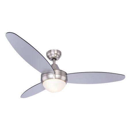 Потолочный светильник-вентилятор Globo Cordula 03611, 2xE14x40W, никель, белый, металл, стекло