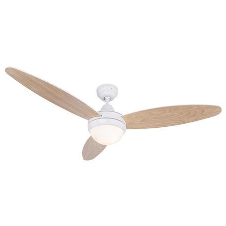 Потолочный светильник-вентилятор Globo Cordula 03612, 2xE14x40W, коричневый, белый, металл, стекло