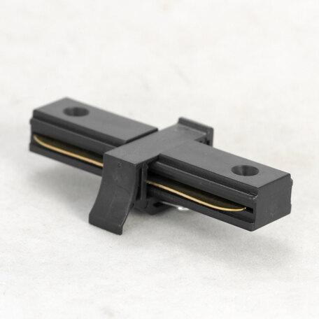 Прямой соединитель питания для треков Lussole LGO 10324 прямой коннектор черный, черный