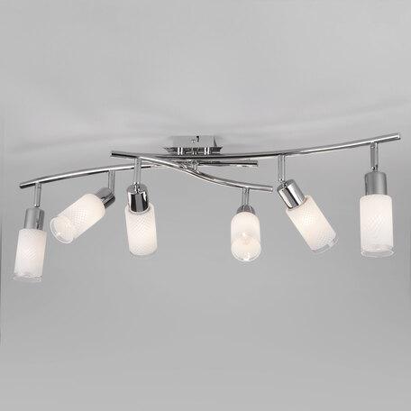Потолочный светильник Eurosvet Sherwood 20030/6 хром, 6xE14x40W, хром, белый, металл, стекло