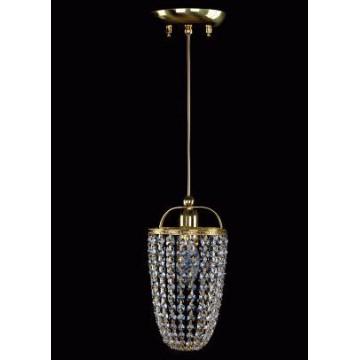 Подвесной светильник Artglass SMALL GAME 02-01 CE, 1xE14x40W, золото, прозрачный, металл, хрусталь Artglass Crystal Exclusive