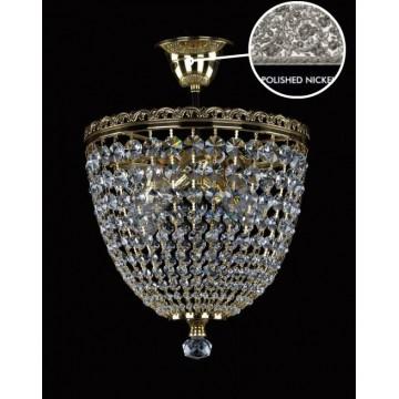 Потолочная люстра Artglass SHELLEY II. NICKEL CE, 4xE14x40W, хрусталь Asfour