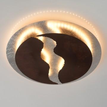 Потолочный светодиодный светильник De Markt Галатея 452013501, LED 45W 3000K 3600lm, серебро, коричневый, металл