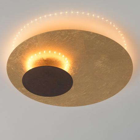 Потолочный светильник De Markt Галатея 452014001, матовое золото, коричневый, металл