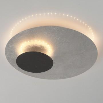 Потолочный светодиодный светильник De Markt Галатея 452014101, LED 18W 3000K 1008lm, серебро, коричневый, металл