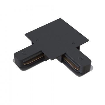 L-образный внутренний соединитель для встраиваемого шинопровода Maytoni TRA002CL-11B, черный, металл