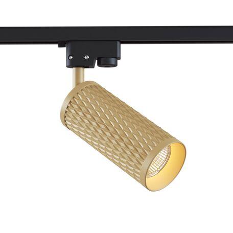 Светильник Maytoni Focus Design TR011-1-GU10-G, 1xGU10x50W, черный с матовым золотом, матовое золото, металл