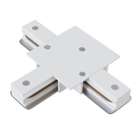 T-образный соединитель питания для треков Maytoni Single phase track system TRA002CT-11W, белый, металл