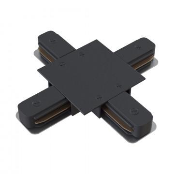 X-образный соединитель для шинопровода Maytoni TRA002CX-11B, черный, металл