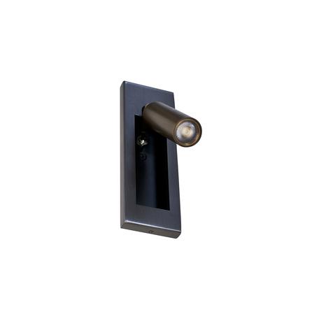 Встраиваемый настенный светодиодный светильник с регулировкой направления света Donolux Boston DL18436/G Br.Black