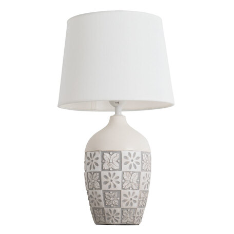 Настольная лампа Arte Lamp Twilly A4237LT-1GY, 1xE27x40W, серый, белый, керамика, текстиль