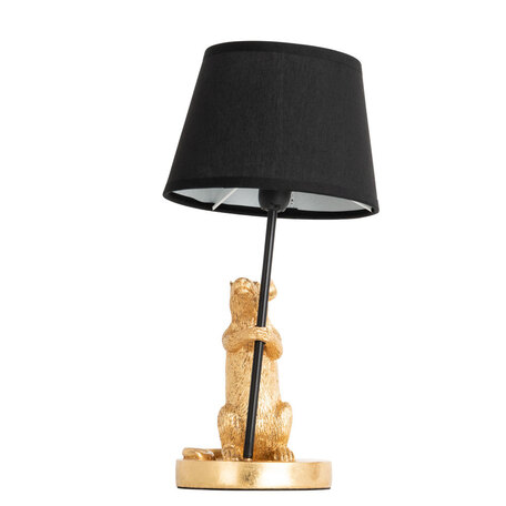 Настольная лампа Arte Lamp Gustav A4420LT-1GO, 1xE14x40W, золото, черный, пластик, текстиль