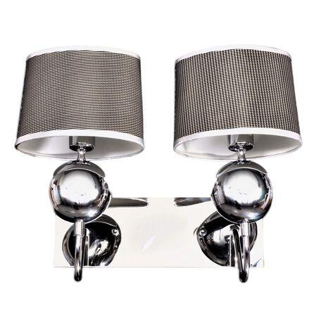 Бра Lumina Deco Viverra LDW 052-2, 2xE14x40W, серебро, текстиль