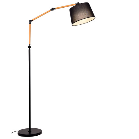Торшер Lumina Deco Corsus LDF 8305 BK, 1xE27x40W, черный, текстиль